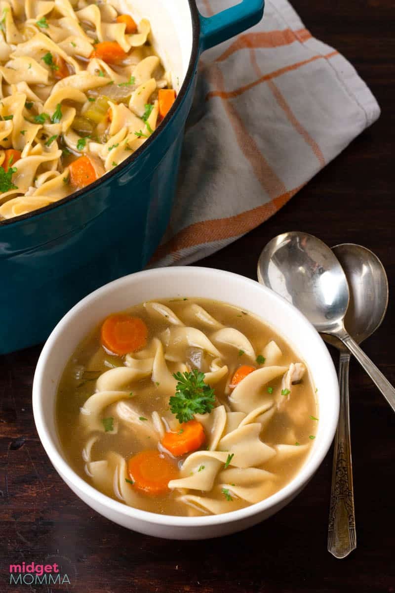 turkey soup in a bowl