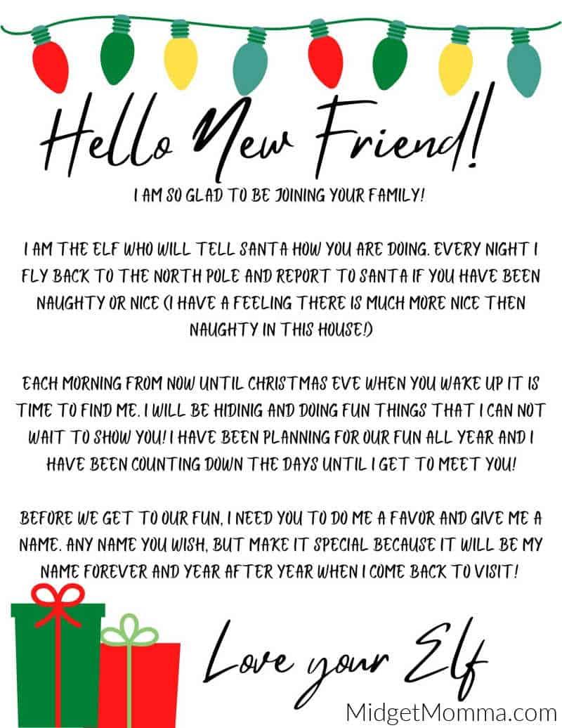 Elf On The Shelf Arrival Letter Free Elf On The Shelf Printable