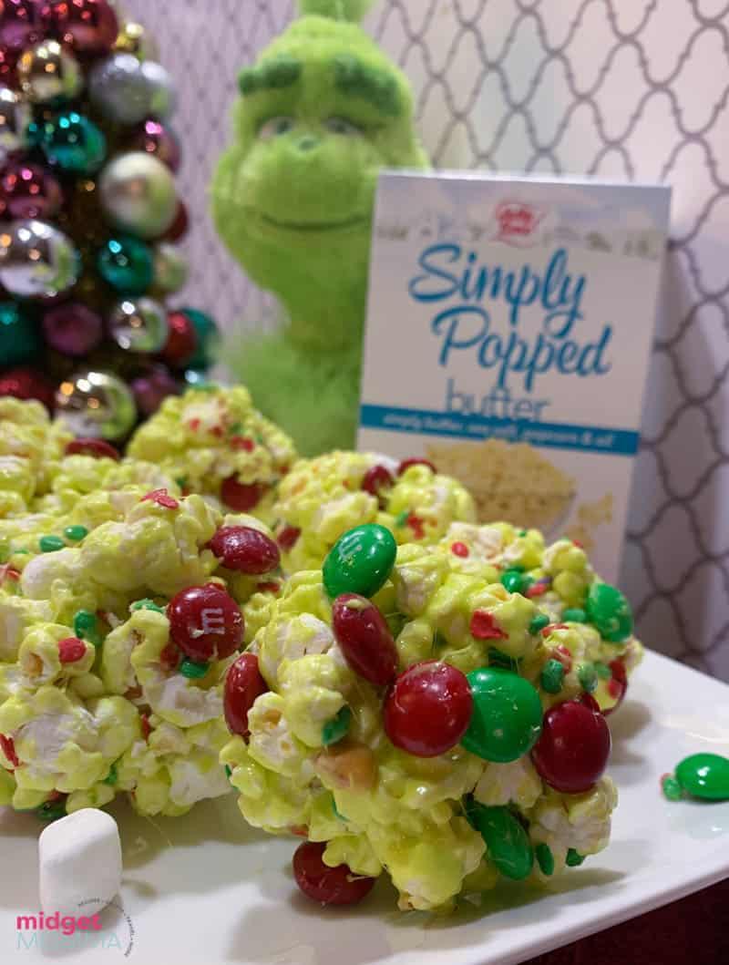 Grinch Popcorn Balls