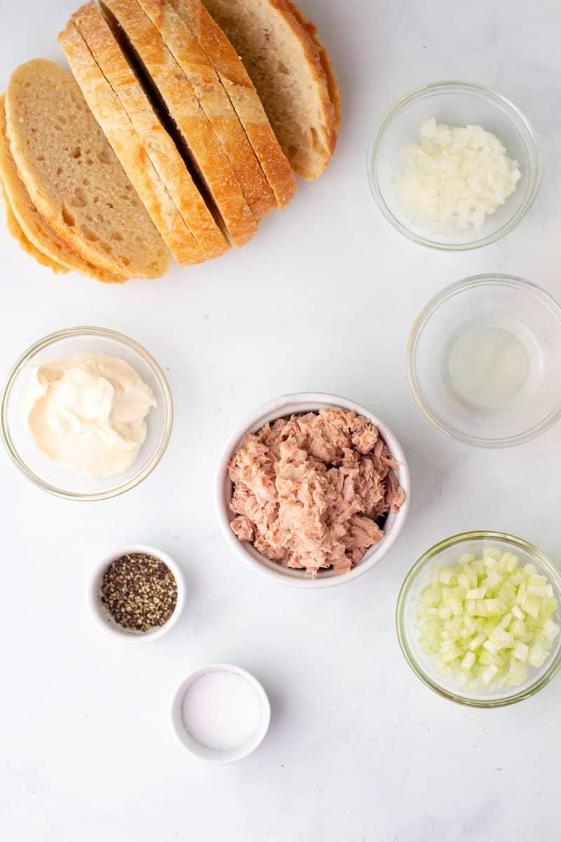 tuna melt sandwich ingredients