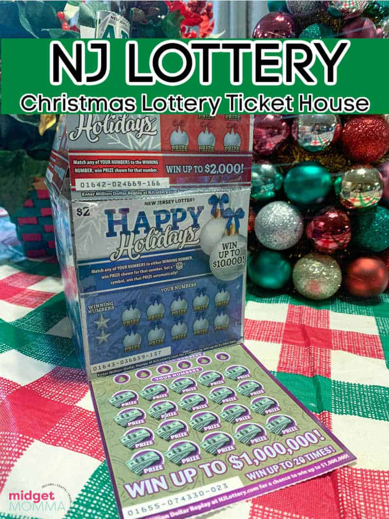 Lottery Ticket House made with NJ Lottery Holiday Scratch-Offs