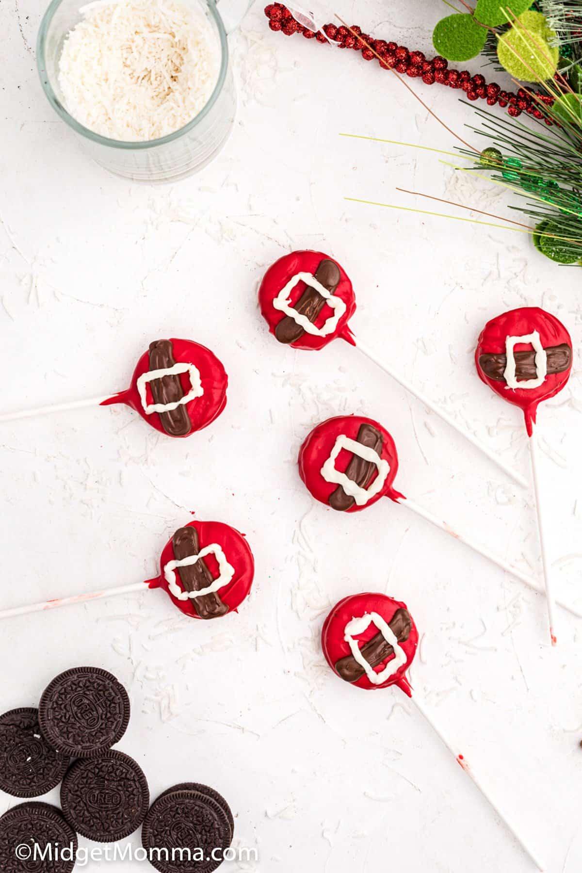 Santa Oreo Pops