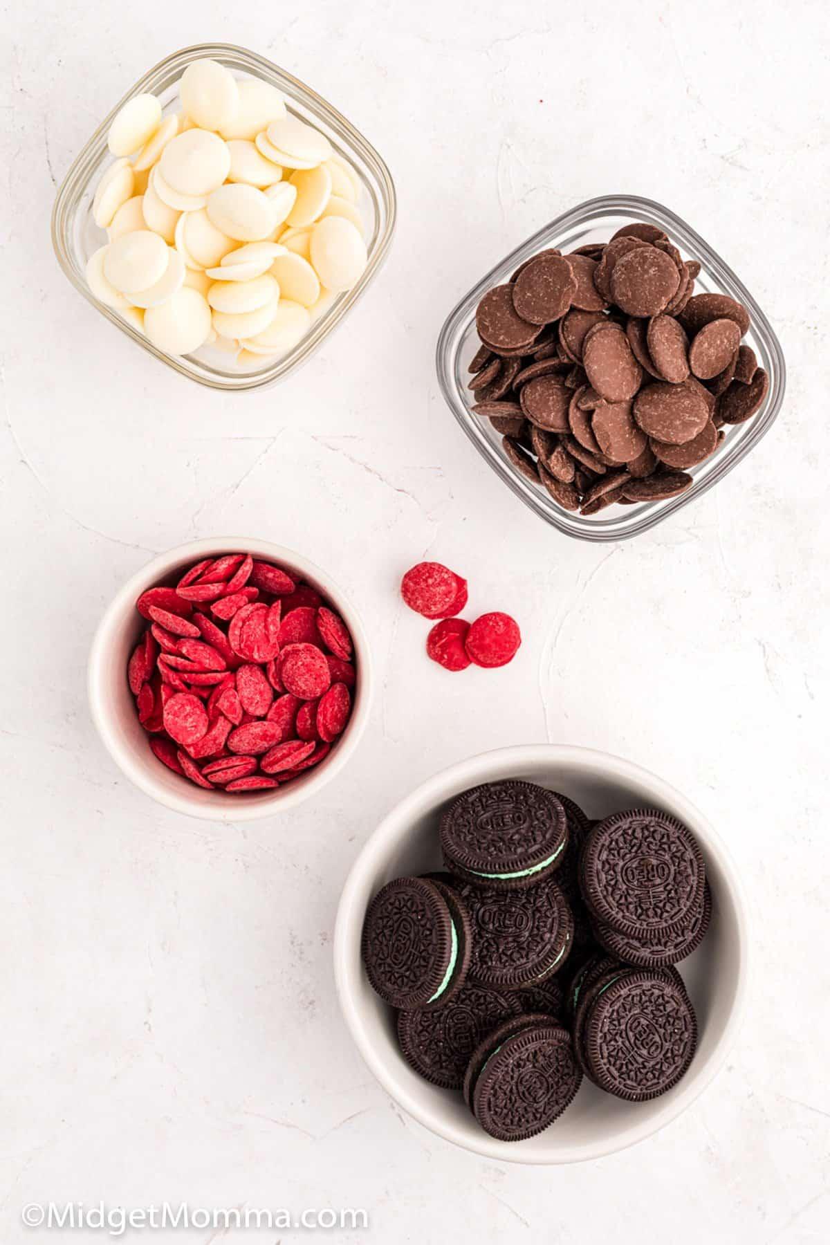 Santa Oreo Pops ingredients