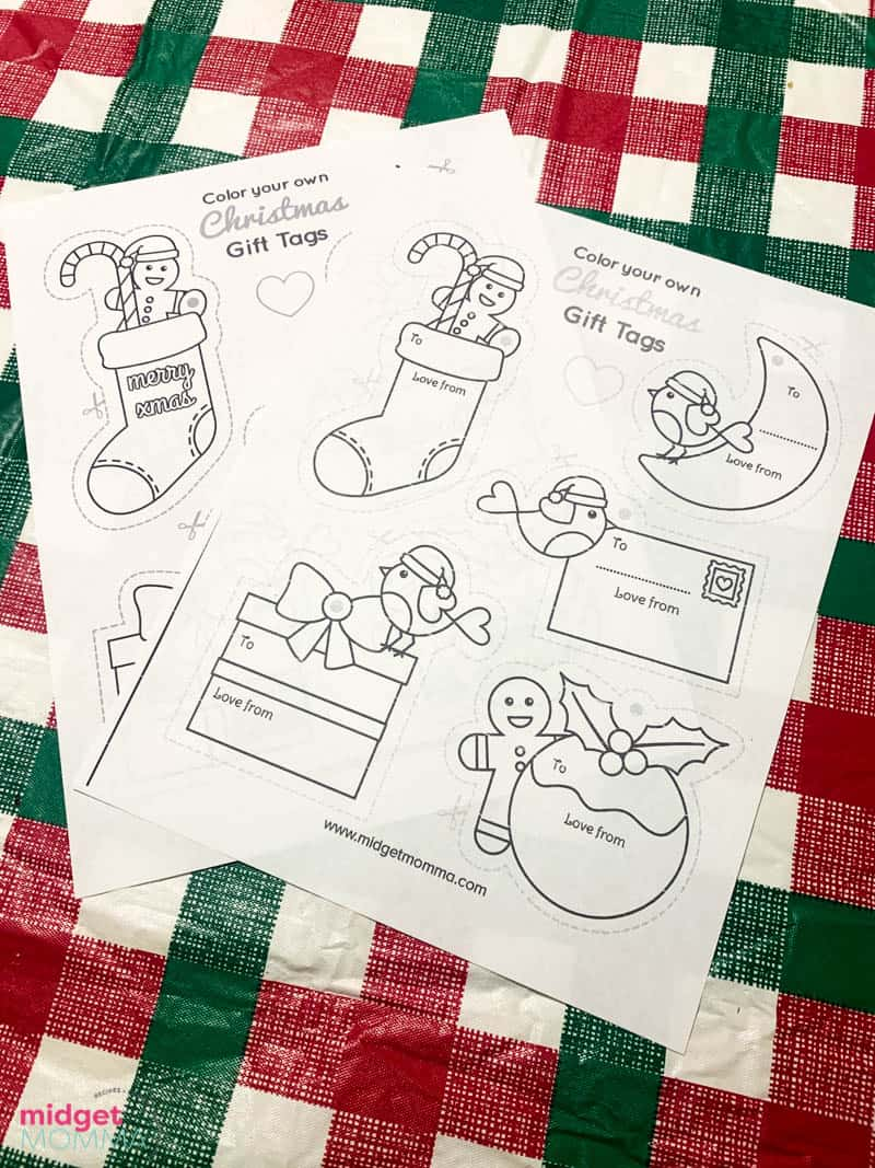 printable coloring gift tags