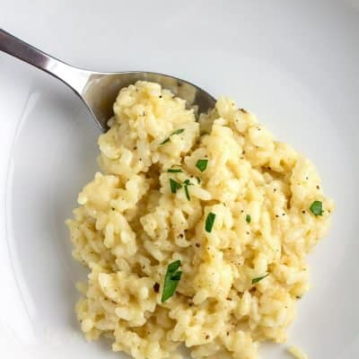 Parmesan Risotto on a plate
