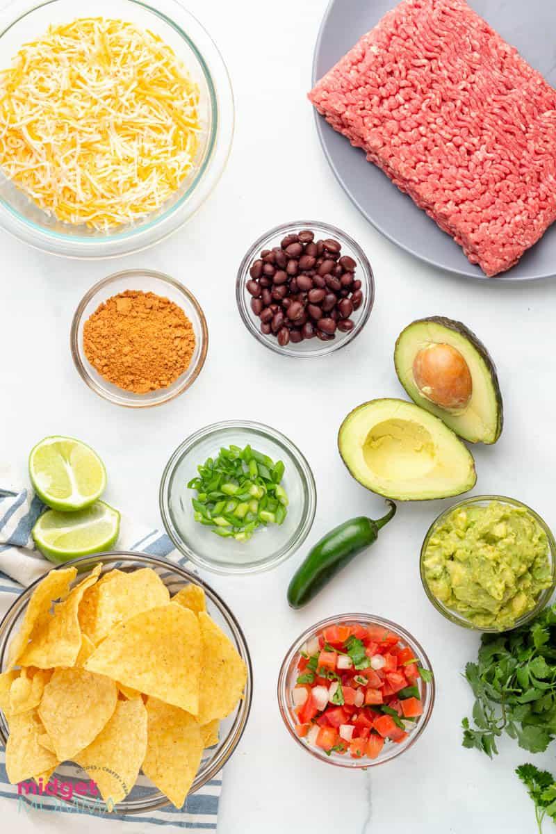 sheet pan nachos ingredients