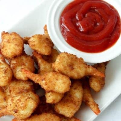 Air Fried Shrimp close up