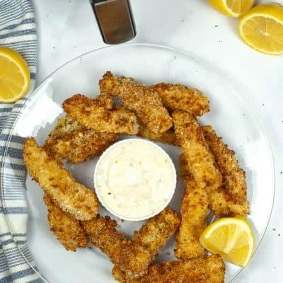 Air Fryer Homemade Fish Sticks