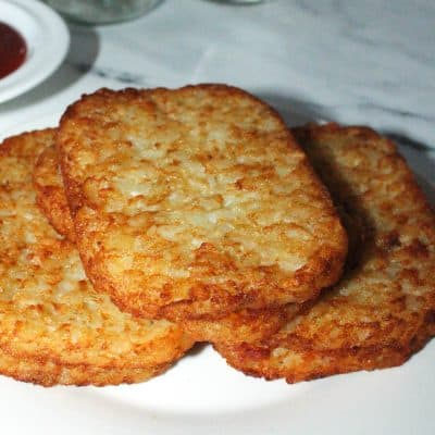 close up photo of frozen hash browns cooked
