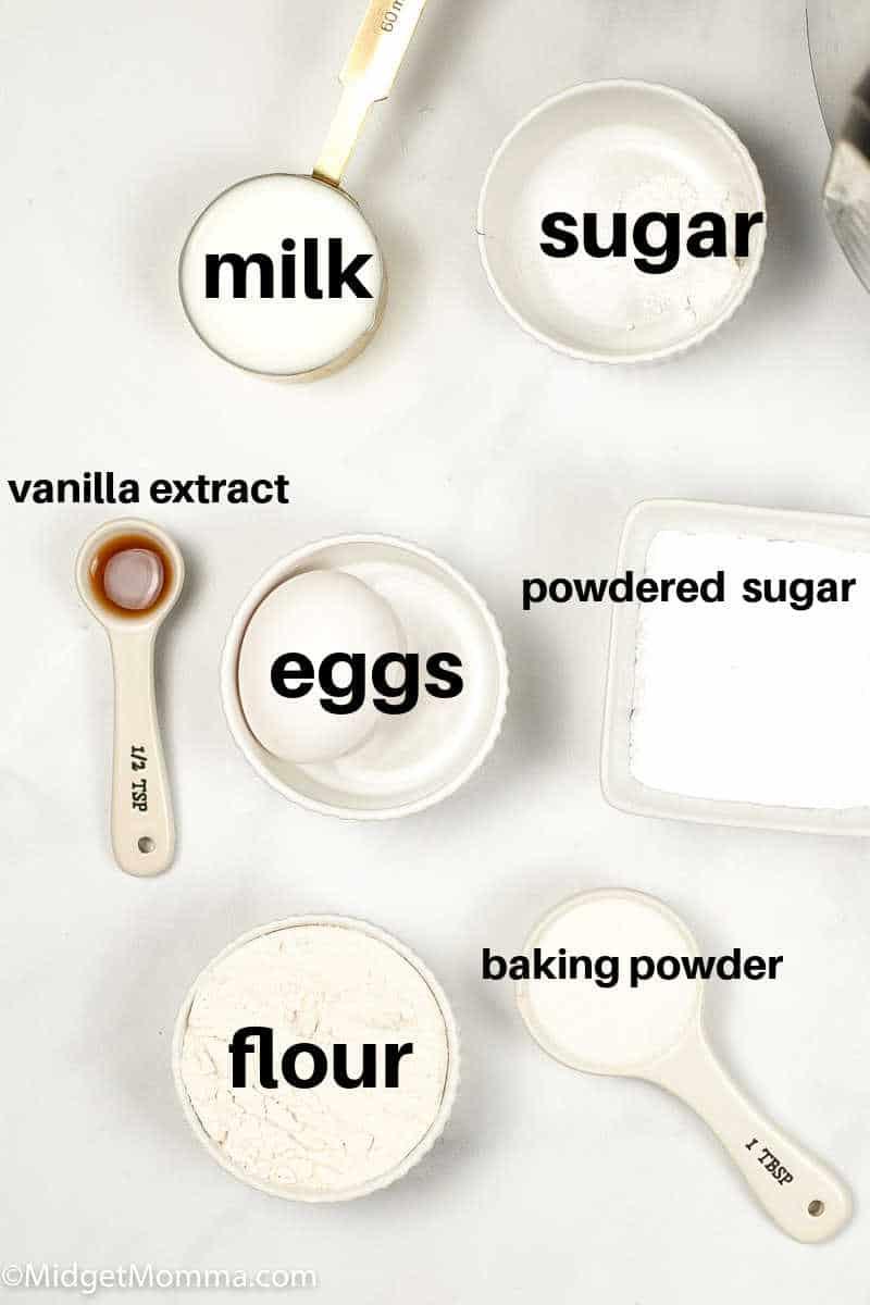 Instant Pot Funnel Cakes Ingredients
