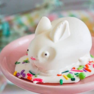 White Chocolate Easter bunny hot chocolate bombs
