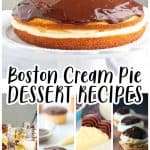 Boston Cream Pie DESSERT RECIPES