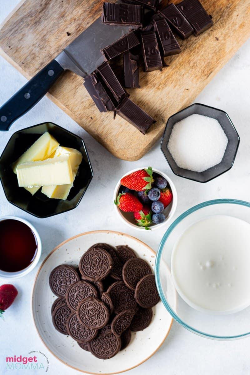 Dark Chocolate Tart Ingredients