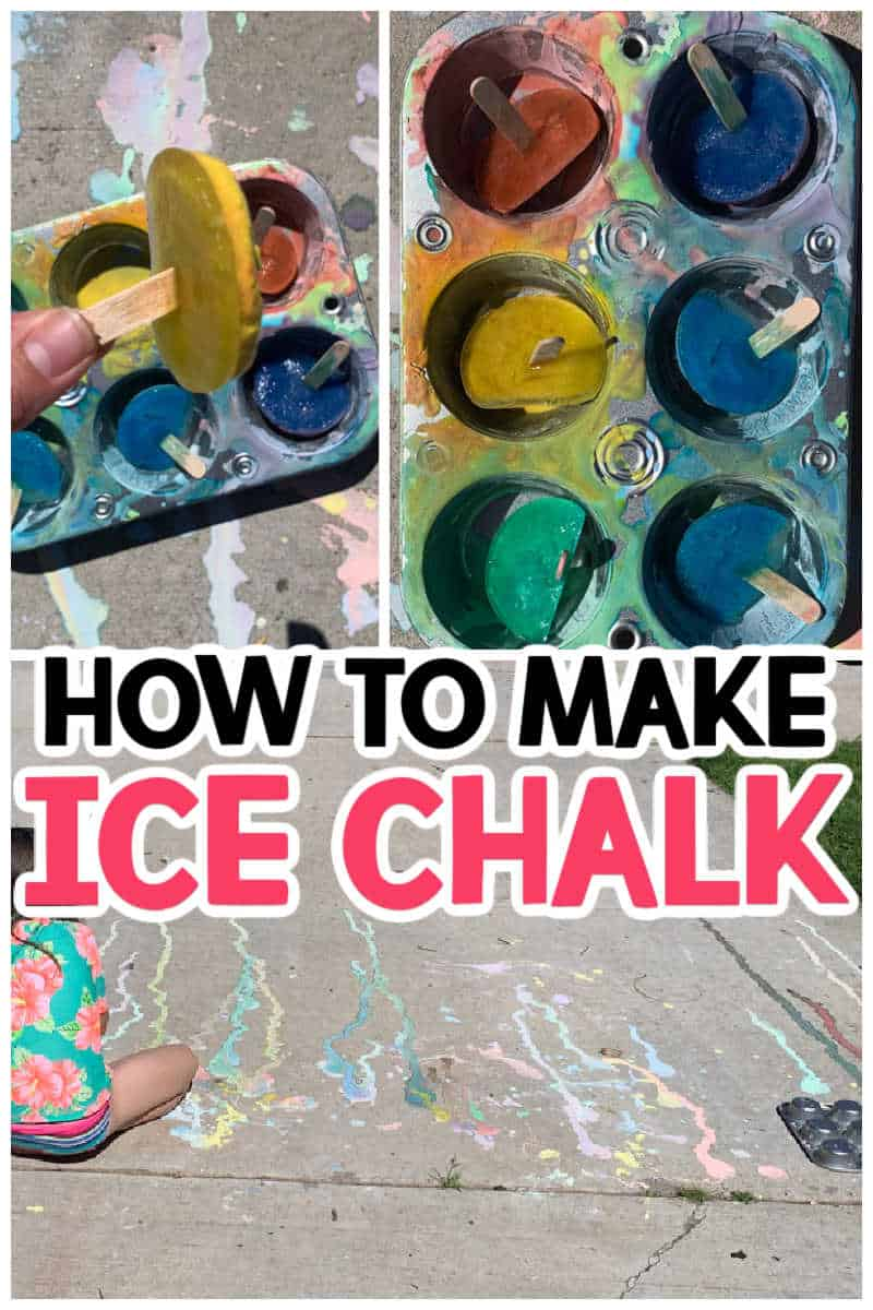 HOW TO MAKE ICE CHALK