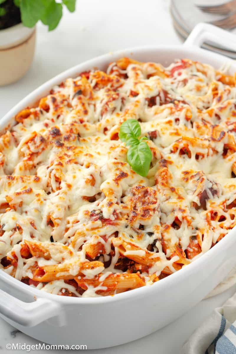 Spinach and Sausage Baked Penne Pasta