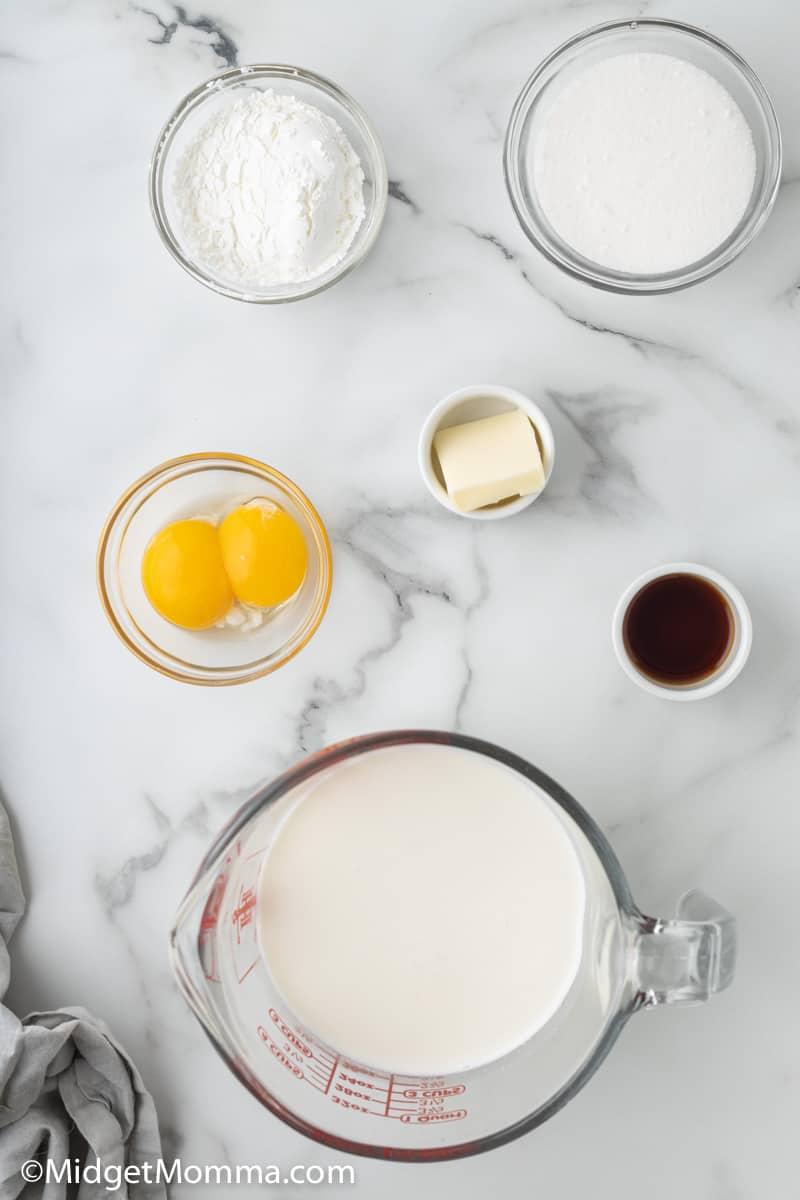 homemade vanilla pudding ingrdients