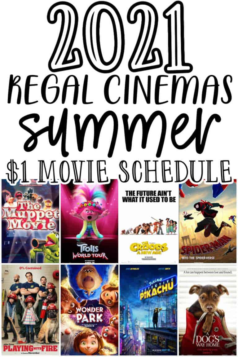 Regal Cinemas Summer Movies! Movies for just $1 - 2021 ...