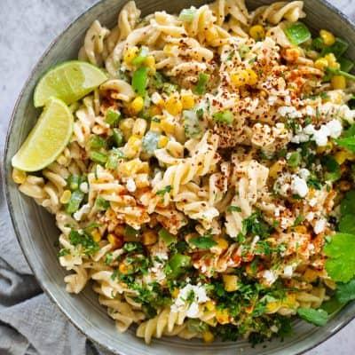 Mexican street Corn Pasta Salad Recipe