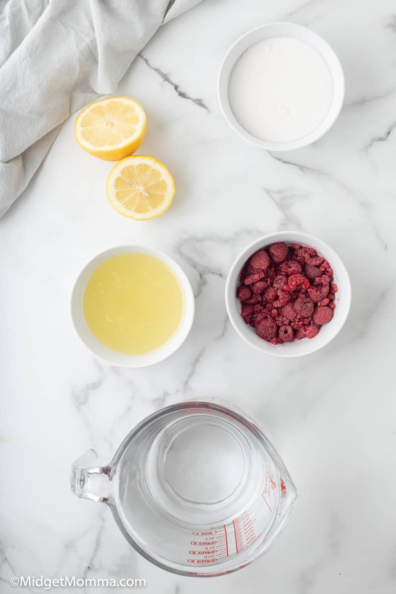 Raspberry lemonade ingredients