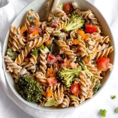 Tahini Pasta Salad Recipe