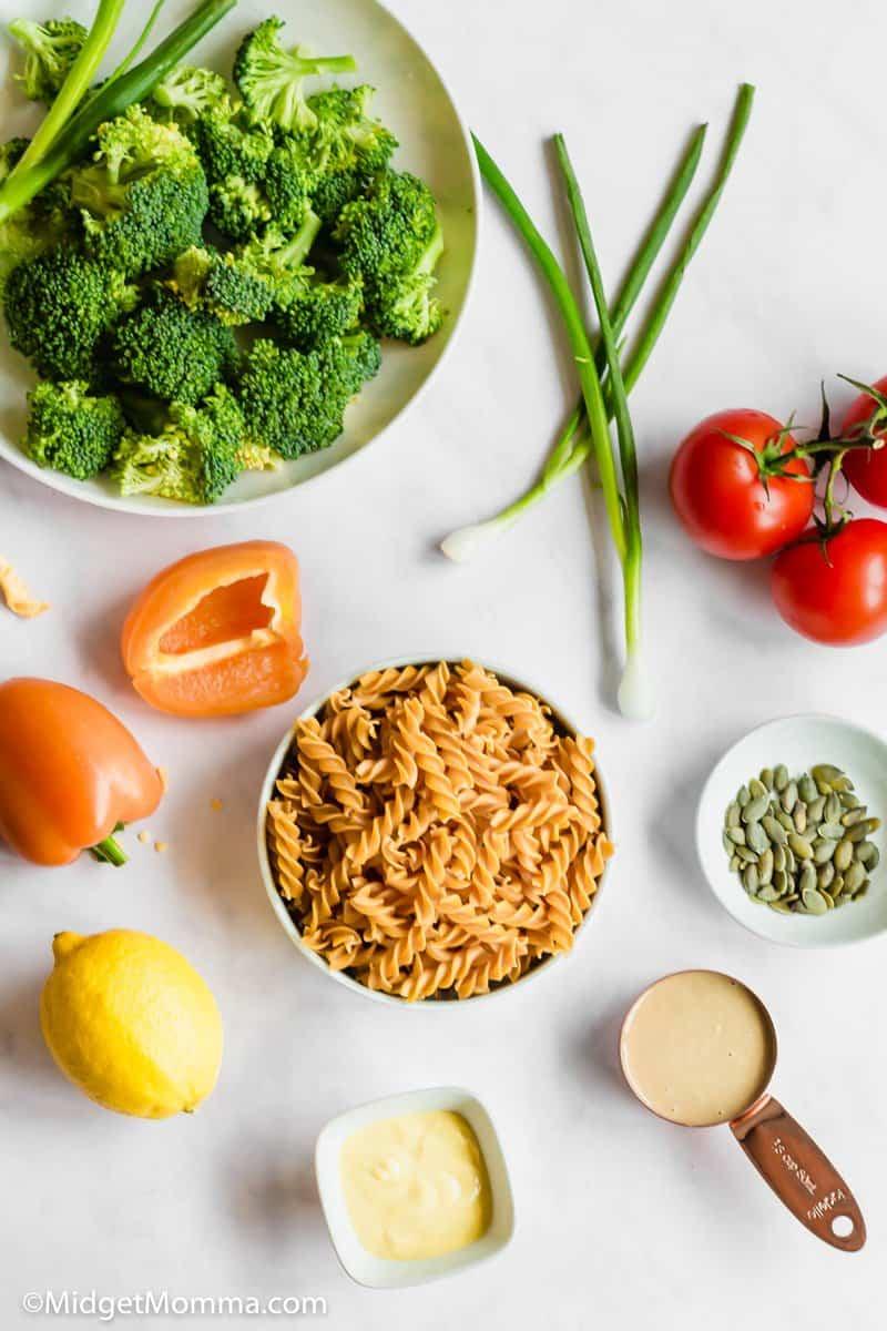 Tahini Pasta Salad Recipe ingredients