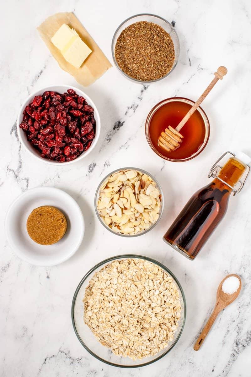 cranberry granola bars ingredients