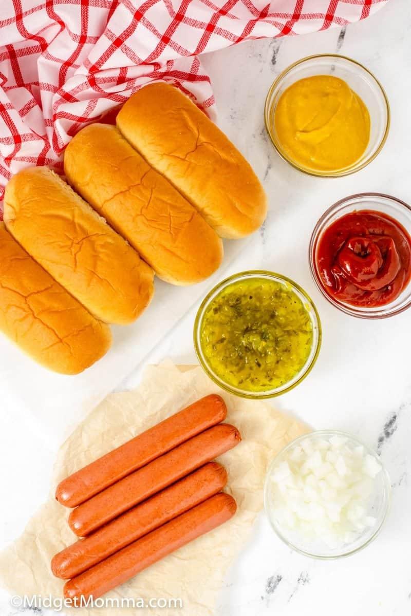 Air Fryer Hot Dogs Ingredients