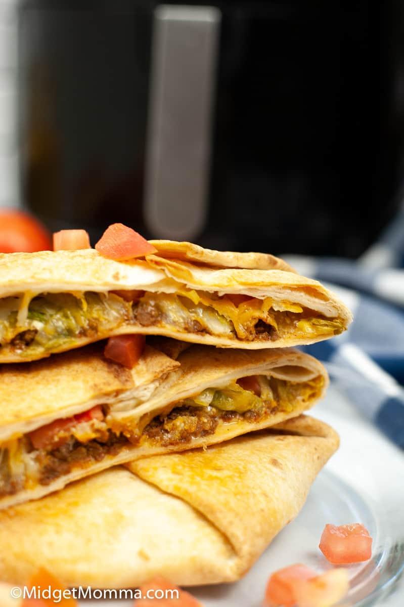 Air Fryer Taco Bell Copycat Crunchwrap Supreme