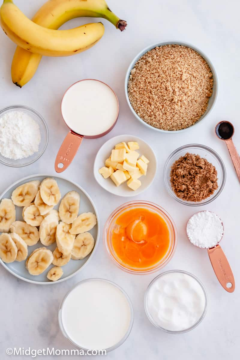 banana cream pie with graham cracker crust ingredients