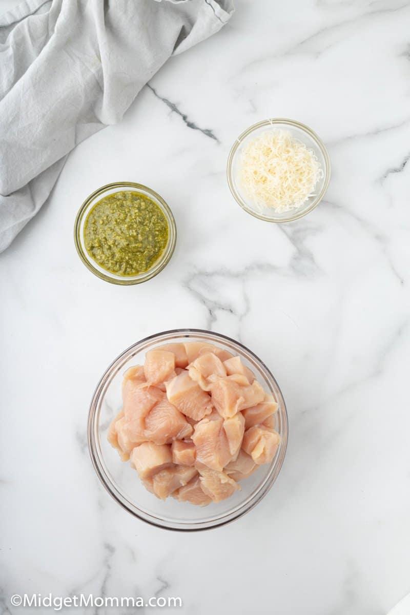 Pesto Grilled Chicken Kabobs ingredients
