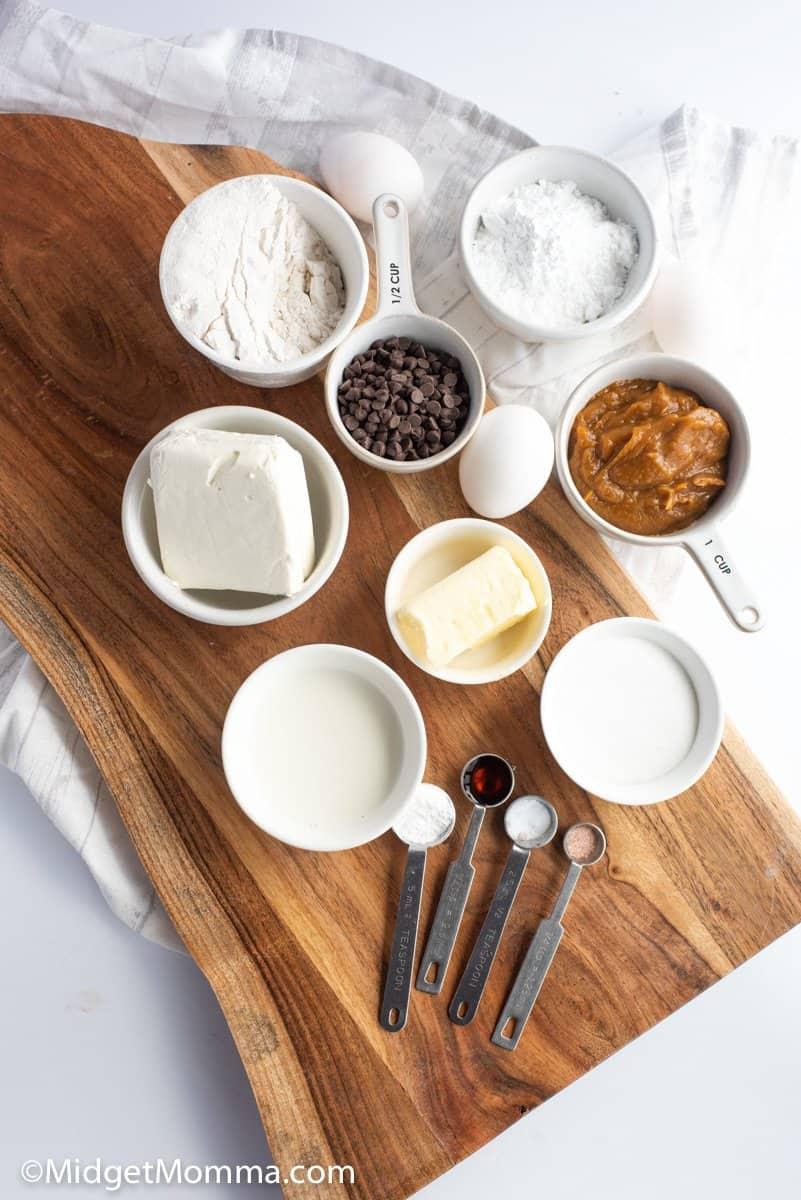 Pumpkin chocolate chip cake ingredients