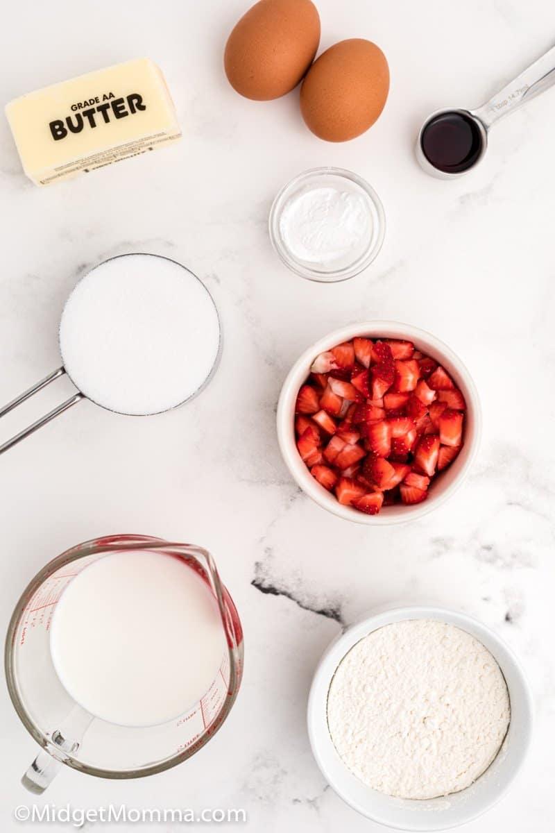 Strawberry muffins ingredients