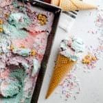 Unicorn No Churn Ice Cream