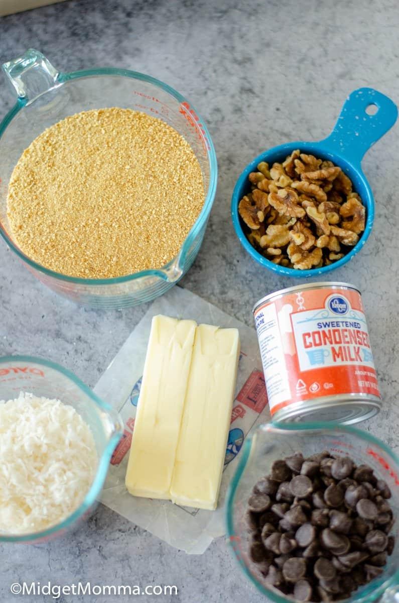 magic cookie bars ingredients