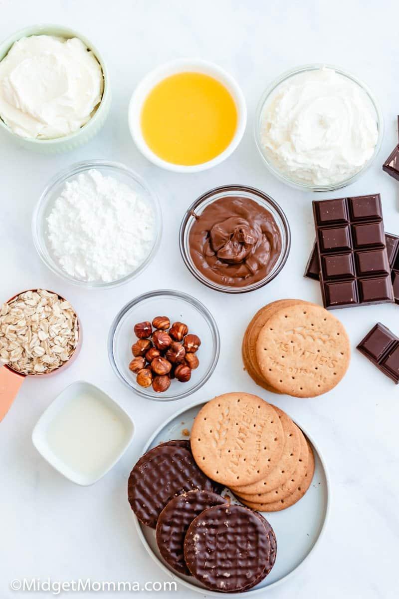 no bake chocolate cheesecake ingredients