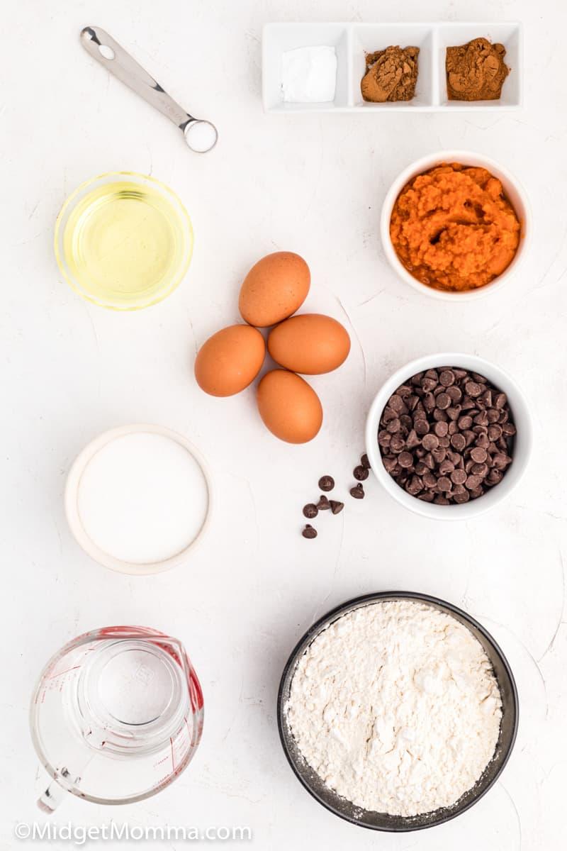 pumpkin chocolate chip muffins ingredients