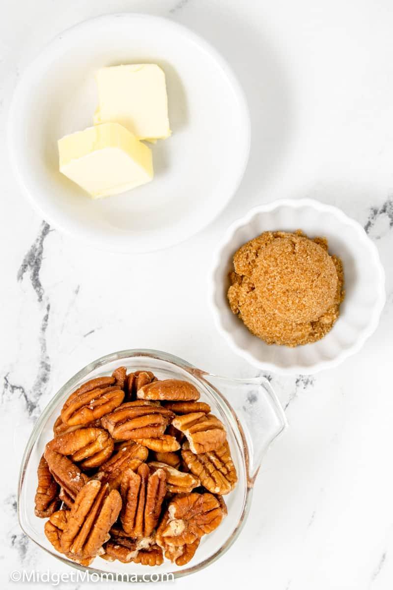 Brown Sugar Candied Pecans ingredients