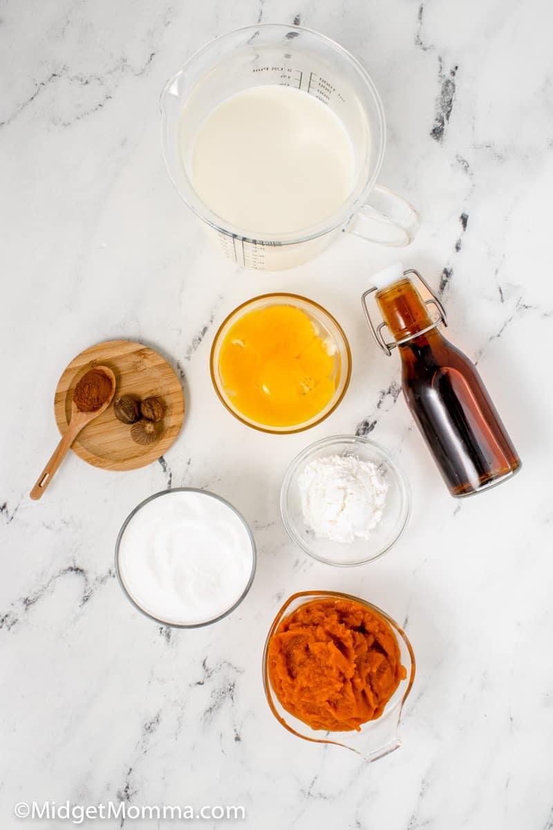 homemade pumpkin pudding recipe ingredients