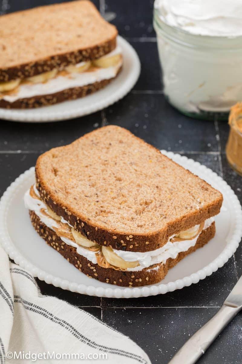 Banana Fluffernutter Sandwich