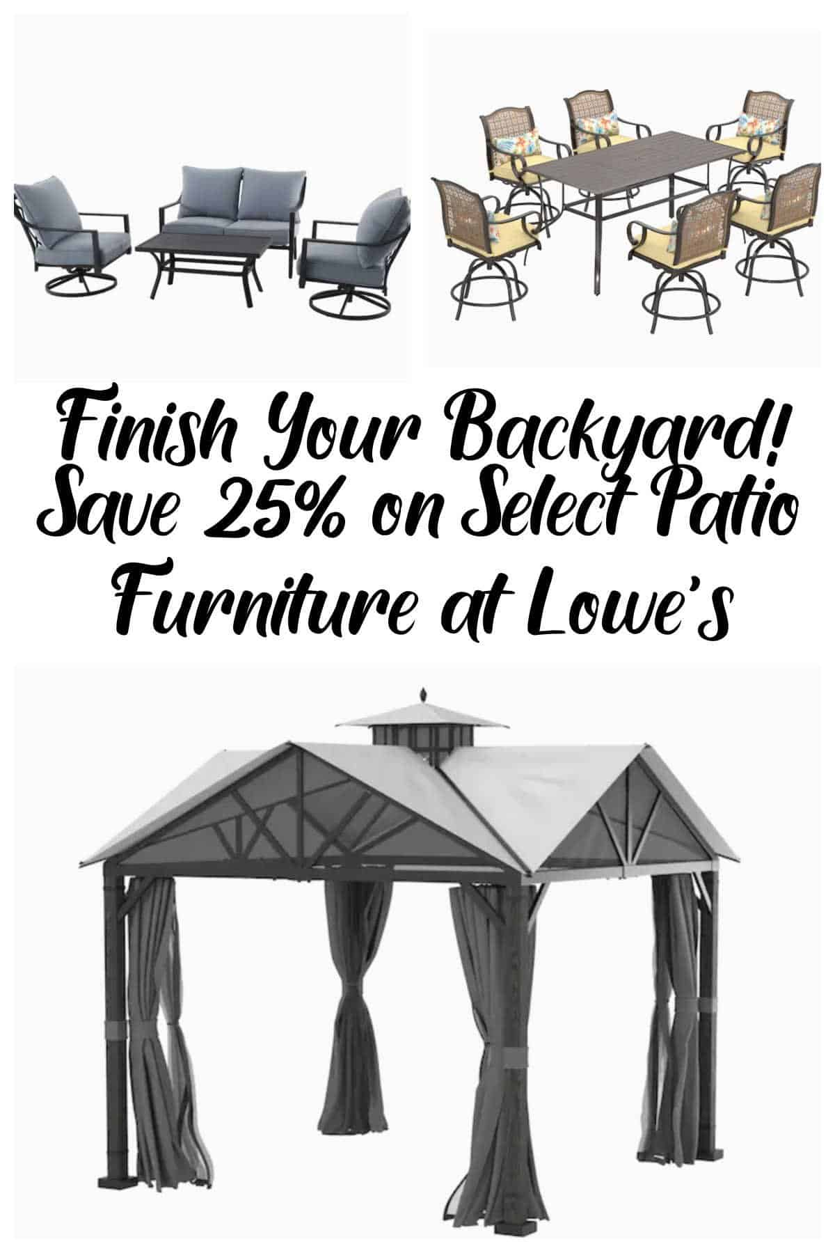 Save 25% on Select Patio Furniture at Lowe's