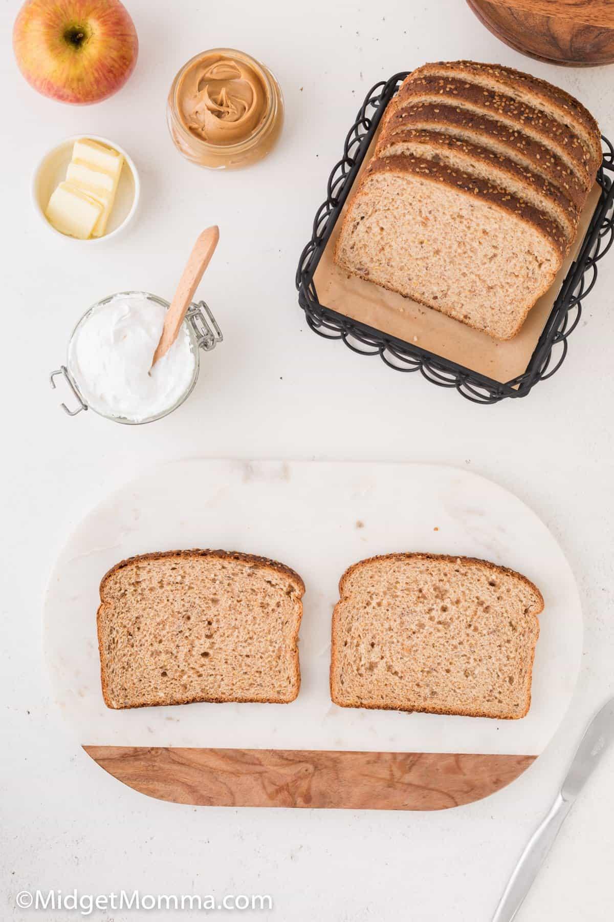 Grilled fluff sandwich ingredients