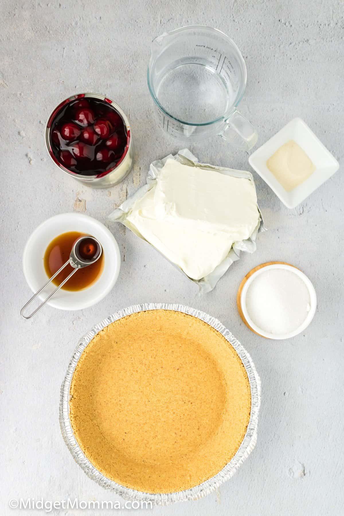 No Bake Cheesecake Recipe ingredients